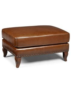 Lauren Ralph Lauren Leather Ottoman, Lyndon   Furniture   Macyu0027s