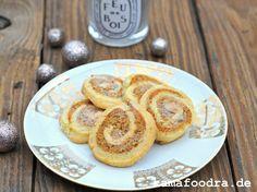 Butter-Haselnussrollen mit Marzipan