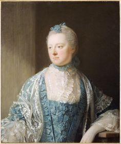 """Allan RAMSAY, """"Portrait de la comtesse Elisabeth de Salisbury""""          (Edimbourg, 1713 - Londres, 1784)  Portrait de la comtesse Elisabeth de Salisbury  Signé et daté en bas à droite : Ramsay 1769"""