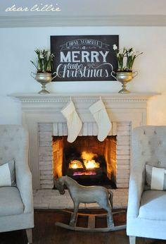 Image of Merry Little Christmas 24x36 Chalkboard Canvas