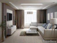 Чтобы создать более уютную атмосферу, нужно использовать менее холодные цвета. На фото хороший пример гостиной в современном стиле, выполненной в тёплых тонах.