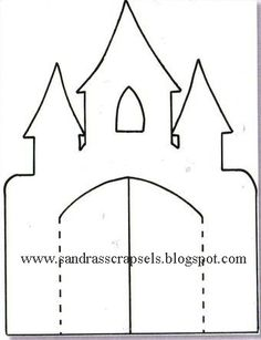 castle pattern use the printable outline for crafts creating