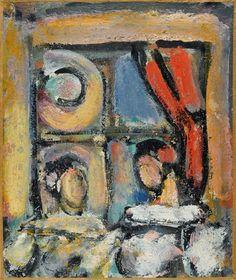 Pierrots au rideau rouge. Georges Rouault, 1945.