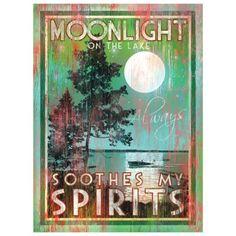 Moonlight on the Lake Art | Patrick Reid O'Brien | Lakehouse Lifestyle