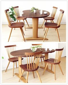About modern small-family solid wood dining table oak table fashion furniture dinette combination