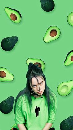 billie is awesome go buy her merch ❤️❤️ Ed Wallpaper, Green Wallpaper, Wallpaper Iphone Cute, Aesthetic Iphone Wallpaper, Cartoon Wallpaper, Aesthetic Wallpapers, Cute Wallpapers, Billie Eilish, Vogue Covers