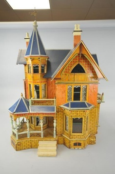 Antique Gottschalk Dollhouse  Rick Maccione-Dollhouse Builder www.dollhousemansions.com