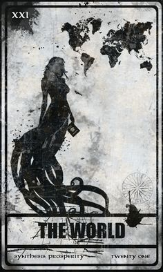 Darkana Tarot Card - World .