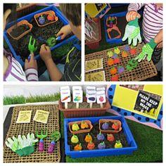 Little Miss Student Teacher : Gardening Box Sensory Play