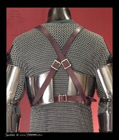 Medieval Armor- Strapping for breastplate over chain hauberk