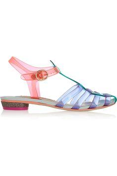 Sophia Webster | Violeta vinyl and leather sandals | NET-A-PORTER.COM