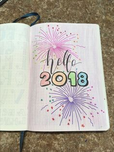 Bullet journal cover page January 2018