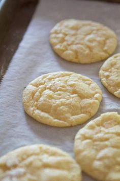 Lemon Crinkle Cookies | Lauren's Latest