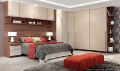 Quarto Modulado de Casal com 10 módulos Exclusive Turin/Fendi - Henn | Lojas KD