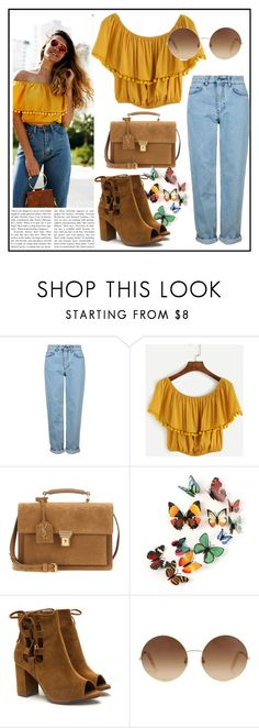"""""""farmer style"""" by esma-373 ❤ liked on Polyvore featuring Topshop, Yves Saint Laurent and Victoria Beckham"""