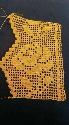 52 Ideas For Crochet Lace Heart Crafts - Diy Crafts Crochet Edging Patterns, Crochet Borders, Crochet Motif, Crochet Doilies, Crochet Lace, Diy Crafts Crochet, Easy Crochet, Crochet Projects, Fillet Crochet