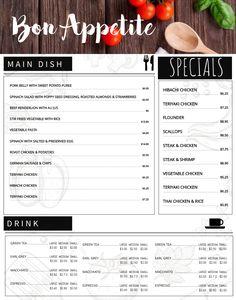 Black Menu Board Design Template Click To Customize Menu - Menu board design templates