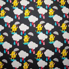 Lillestoff Rainclouds Organic Cotton Stretch Jersey by snugglebots, £17.60