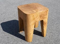 Manufactured by PP Møbler in Denmark, each stool is carved from one piece of solid oak