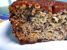 Classic Banana Bread with Chocolate Chips by Dorie Greenspan as adapted by thesmallbostonkitchen #Chocolate_Chip_Banana_Bread #Banana_Bread #thesmallbostonkitchen #Dorie_Greenspan