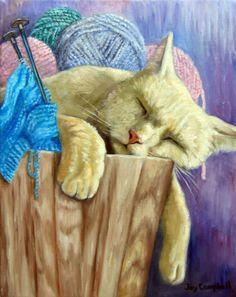 Gallery.ru / Фото #1 - 1 марта - Кошкин день! Художница Joy Campbell - Anneta2012