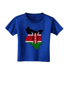 TooLoud Kenya Flag Silhouette Distressed Toddler T-Shirt Dark