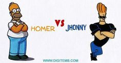 #JhonnyBravo VS #homerSimpson  #FREEBIES needs your #VOTE. And the most voted design will be uploaded First. Just type the name in the comment below! :) Follow @DigitEMB and Get Daily #FreeEmbroideryD