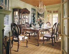 Jessica McClintock Romance Rectangular Leg Dining Table By American Drew