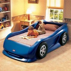 $425.99 Little Tikes Sports Car Twin Bed (Blue)