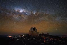 061443703991 Night Sky Over La Silla The Milky Way glows brightly over the MPG ESO 2.2