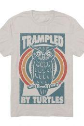 Retro Owl Tee (Tri-Oatmeal)