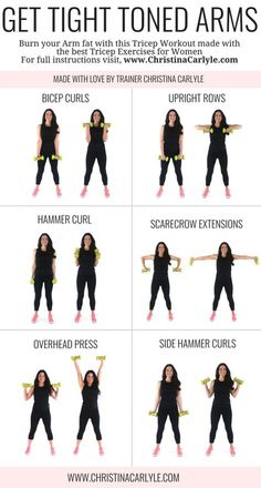 Arm workout for women & Best Arm Exercises for women that want tight toned arms. This arm workout routine was made with some of the& The post Arm Workout for Women that Want Tight Toned Arms appeared first on Griffith Diet and Fitness. Personal Fitness, Physical Fitness, Fitness Workouts, Arm Workouts At Home, At Home Workouts For Women, Best Arm Workouts, Gym Routine Women, Upper Arm Workouts, Arms And Back Workout At Home