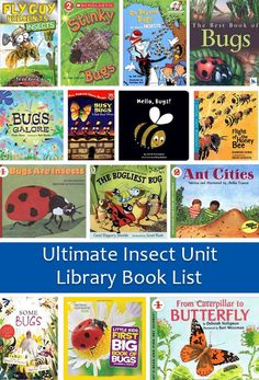I is for Inspect Insects | Bug and Insect Library Book List. Part of our ultimate insect unit study. Free Printable! | eager Ed