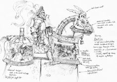 The Empire of Man concept art. Knightly Orders of the Empire. By David Gallagher. All credit goes to the artist. Warhammer Empire, Warhammer Fantasy, Fantasy Battle, Fantasy Armor, The Enemy Within, Old Things, Small Things, Illustrators, Concept Art