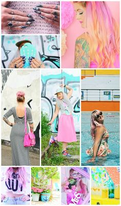 Wardrobe Conversations Blog Crushes 12 Blogger Style - Mermaid Gossip is a pink haired fashion and lifestyle blogger with amazingly bright and fun style. Colour and creativity and some of the most awesome nails you ever did see.
