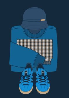 Love this artwork, love my bucket hats 😆 Adidas pornography! Football Fight, Rangers Football, Football Fans, Football Casual Clothing, Football Casuals, Mode Vintage, Vintage Nike, Nike Outfits, Casual Outfits