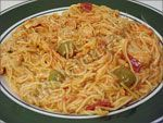 a Puerto Rican pasta dish to die for. Definite comfort food.