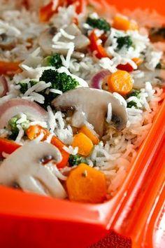 Basmati rice with vegetables in the microwave de verduras cazuela guarniciones faciles Microwave Recipes, Rice Recipes, Pasta Recipes, Cooking Recipes, Healthy Recipes, Couscous, Quinoa, Vegetarian Recepies, Vegetable Rice