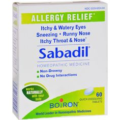 Boiron Sabadil Allergy - 60 Tablets Allergy medicine and supplements at www.pickvitamin.com