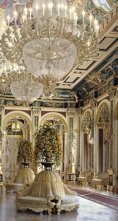 Opulent regal interiors