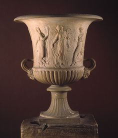 Calyx-krater with reliefs of maidens and dancing maenads, 1st century A.D.; Imperial  Roman  Marble