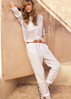 These pants look like the ultimate in comfort! Mango summer 2012