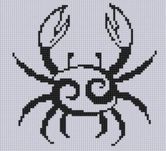 Zodiac Cancer 2 Cross Stitch Pattern by MotherBeeDesigns on Etsy