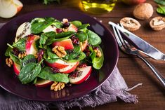 Power Salad -  - loose leaf spinach, apples (chopped ), pecans, cranberries, Chia Seeds, Toss all ingredients together.; Serve with balsamic pecan dressing (Dressing in link) ;  - This recipe is for 1 serving. I recommend quadrupling the dressing (at least) and storing the remainder in the refrigerator for other salad recipes during