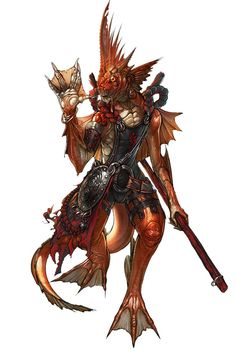 View an image titled 'Fishman Art' in our Blade & Soul art gallery featuring official character designs, concept art, and promo pictures. Fantasy Inspiration, Character Inspiration, Character Art, Character Design, Character Portraits, Fantasy Races, Fantasy Rpg, Fantasy World, Space Fantasy