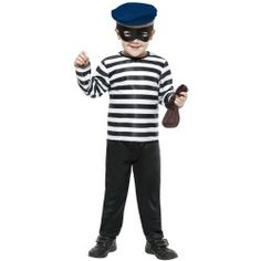 You won't mind being busted in our prisoner costumes. Whether you're looking for a sexy convict costume or men's prisoner costumes, these are sure to please. Baby Halloween Costumes Newborn, Diy Halloween Costumes For Kids, Burglar Costume, Inmate Costume, Convict Costume, World Book Day Costumes, Boys Fancy Dress, I Love Makeup, Craft Activities For Kids