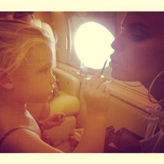 Pin for Later: Rachel, Ivanka, Fergie, and More Shared the Sweetest Snaps of Their Tots This Week! Maxwell Johnson touched up mom Jessica Simpson's makeup.