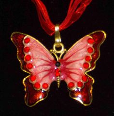 Feast Your Beautiful Peeps on the latest Red Enamel Butterfly Pendant!  You can find this Red Enamel Butterfly Pendant at https://www.sarassuperstock.com along with Many, Many More Items! :)  #SaraSuperStock