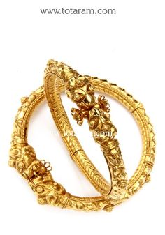 Check out the deal on 22K Gold Kada - Set of 2 (1 Pair) at Totaram Jewelers: Buy Indian Gold jewelry & 18K Diamond jewelry