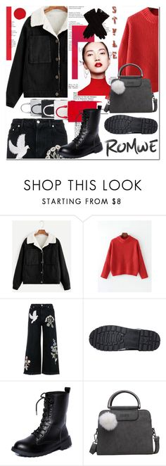 """""""Romwe"""" by ilona-828 ❤ liked on Polyvore featuring Alexander McQueen, Jil Sander, AGNELLE, StreetStyle, romwe and polyvoreeditorial"""